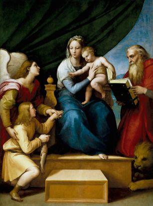 Raffaello_Sanzio_-_Sacra_Famiglia_con_Rafael,_Tobia_e_San_Girolamo,_o_Vergine_del_pesce